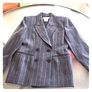 Yves St Laurent Wool &Cashmere Gray Blazer Sz10